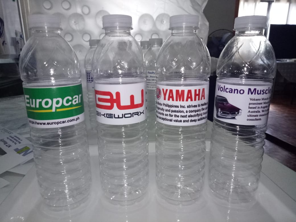 Services - Company Label Water Bottles