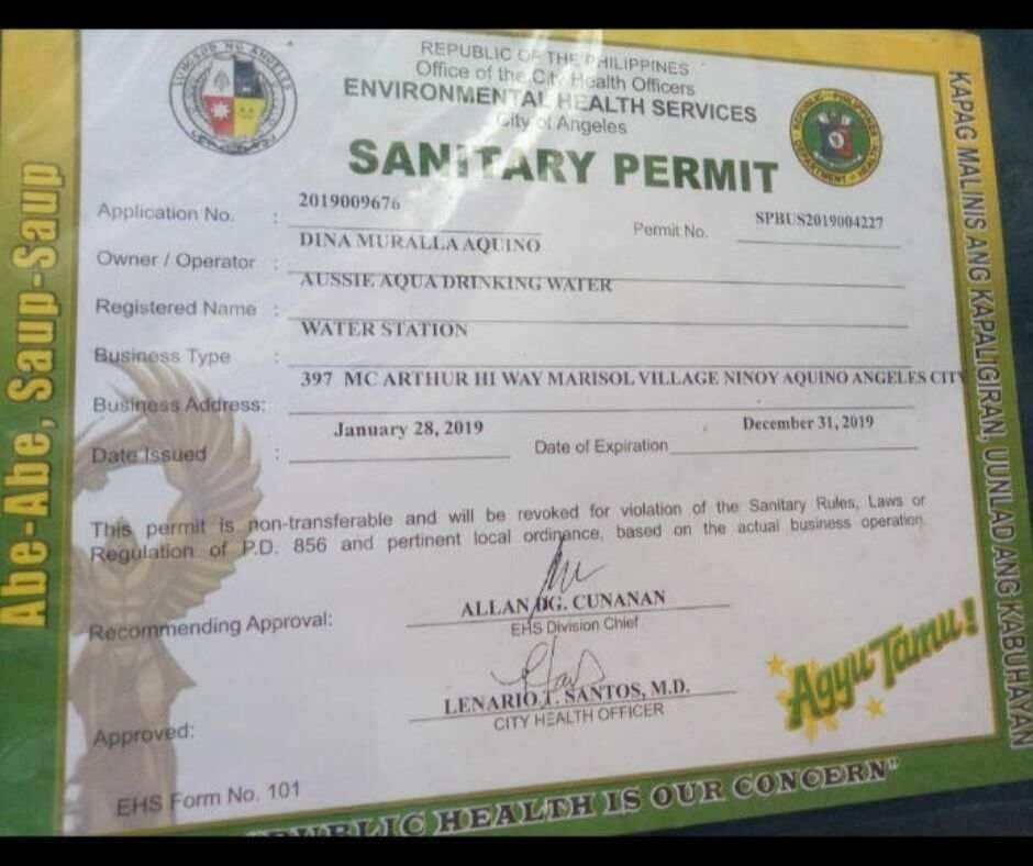 Sanitary Permit