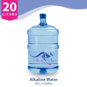 20 Liter alkaline Water in round bottle