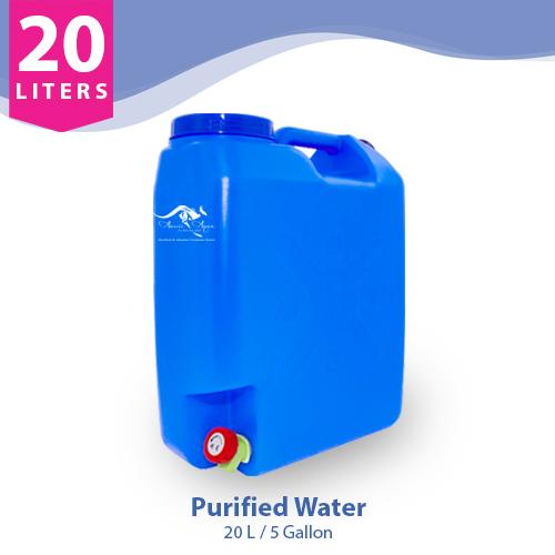 20 Liter Purified Water in Slim Jar